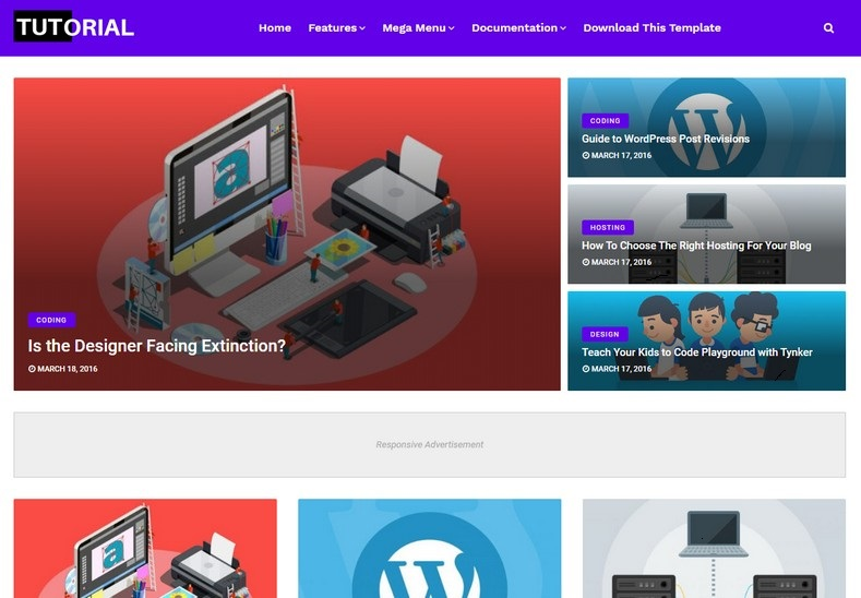 Tutorial Blogger Template Fully Responsive 2021