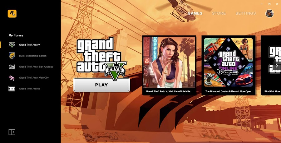 rockstar games launcher pc user interface free grand theft auto san Andreas game