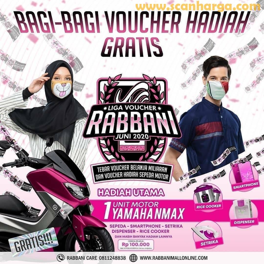 LIGA Voucher Rabbani Juni 2020 - Tebar Voucher Belanja & Hadiah Motor NMAX