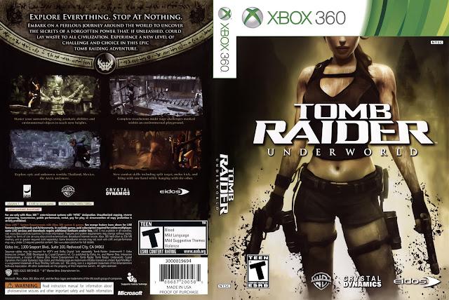 Capa Tomb Raider Underworld Xbox 360