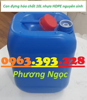 Can nhựa 10 lít, can nhựa đựng hóa chất, cannhựa HDPE, can nhựa có nắp garenty 10L1