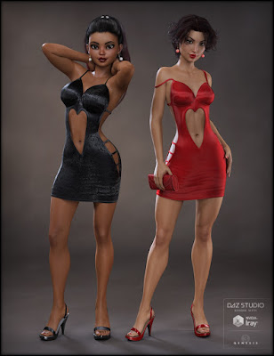 Have a Heart Outfit for Genesis 3 Female(s)