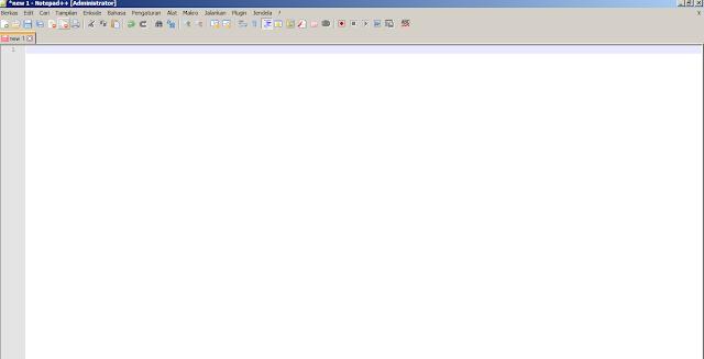tampilan notepad++