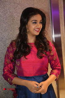 Actress Keerthi Suresh Stills at Remo Success Meet  0090.JPG