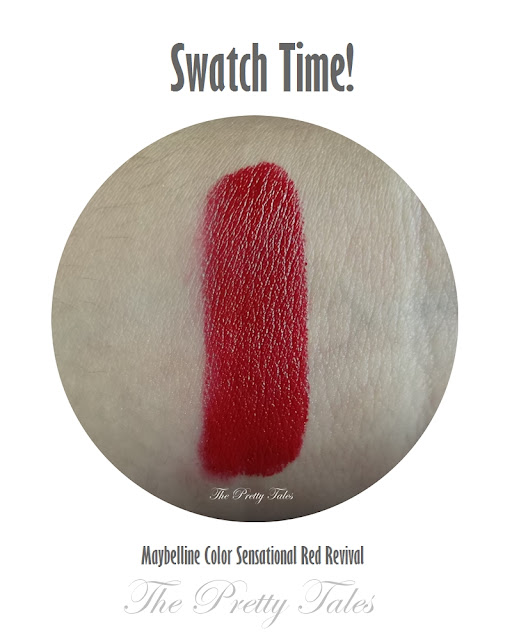 maybelline color sensational red revival review swatch