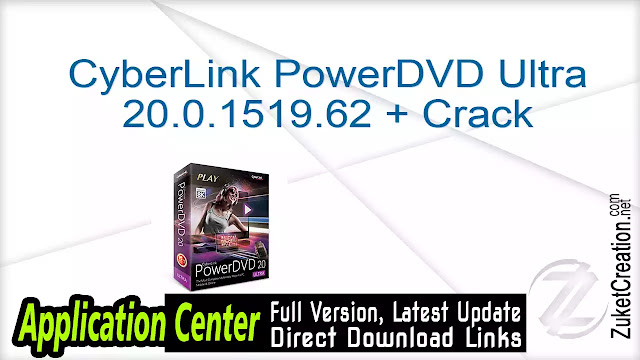 CyberLink PowerDVD Ultra 20.0.1519.62 + Crack