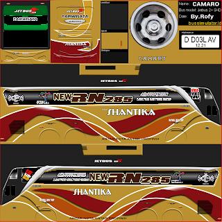 Download Livery Bus Shantika New RN285