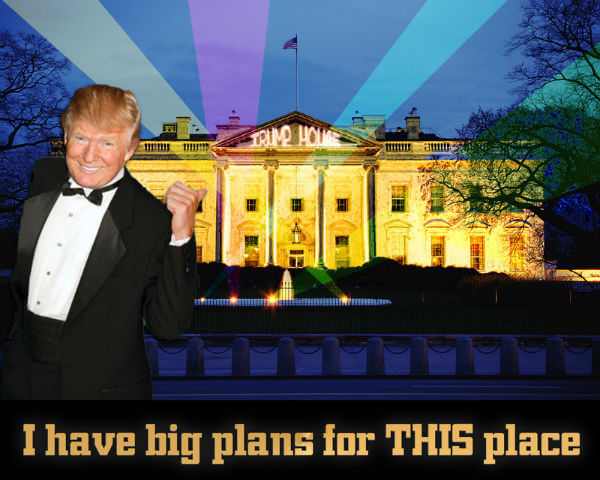 Donald Trump pimping the White House