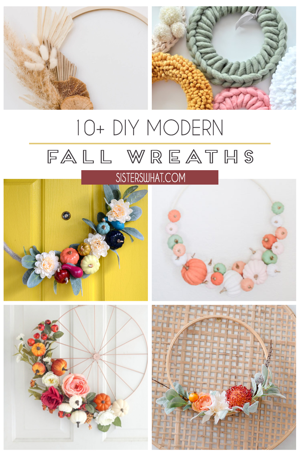 diy modern fall wreaths