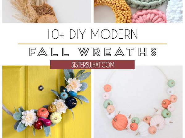 10+ DIY Modern Fall Wreaths