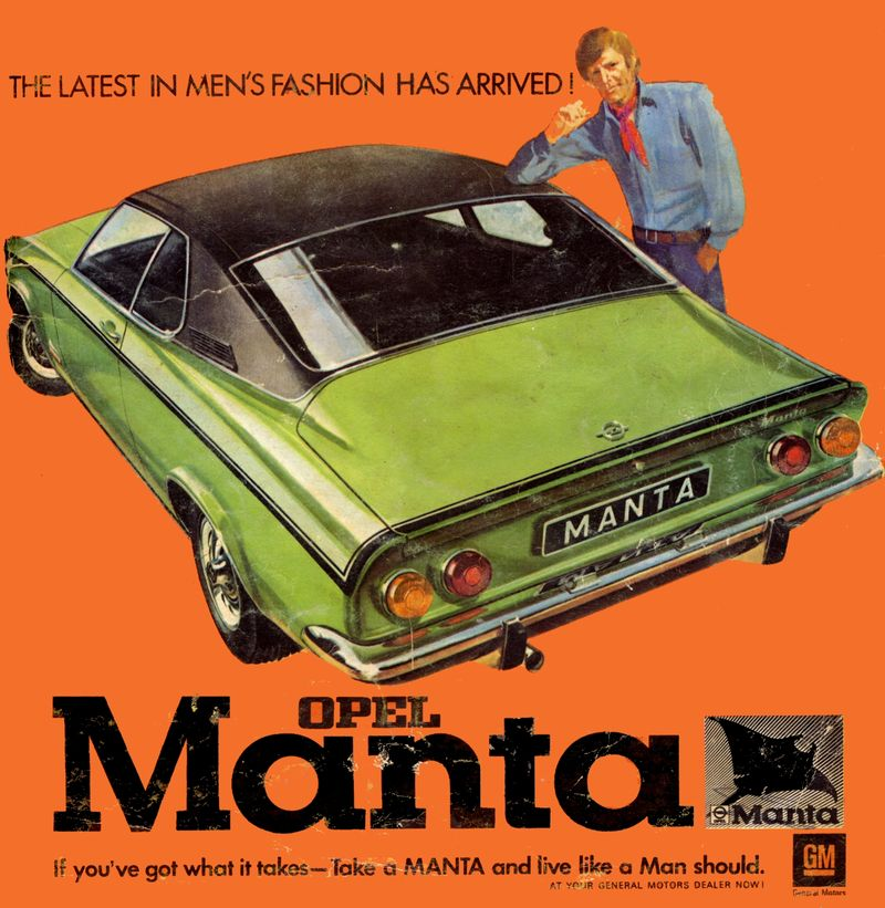 Avengers In Time: 1970, Cars: Opel Manta A