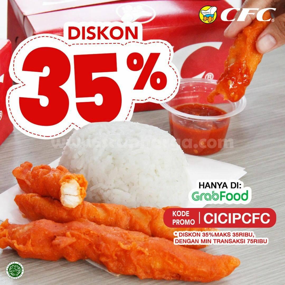 Promo CFC DISKON 35% khusus pemesanan via GRABFOOD