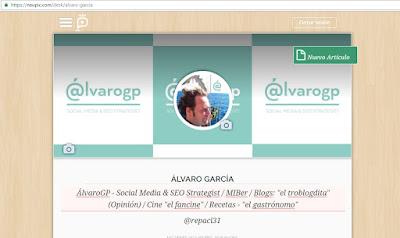 ÁlvaroGP - Social Media & SEO Strategist - Social Media - SEO - Community Manager - MIBer - Batman - Los Cazafantasmas - Casablanca - Neupic - Gemelolandia - Instagram - LinkedIn - IAA Spain - ADECEC - Wejoyn - COPE - El gastrónomo de la COPE - el troblogdita - el fancine - el gastrónomo