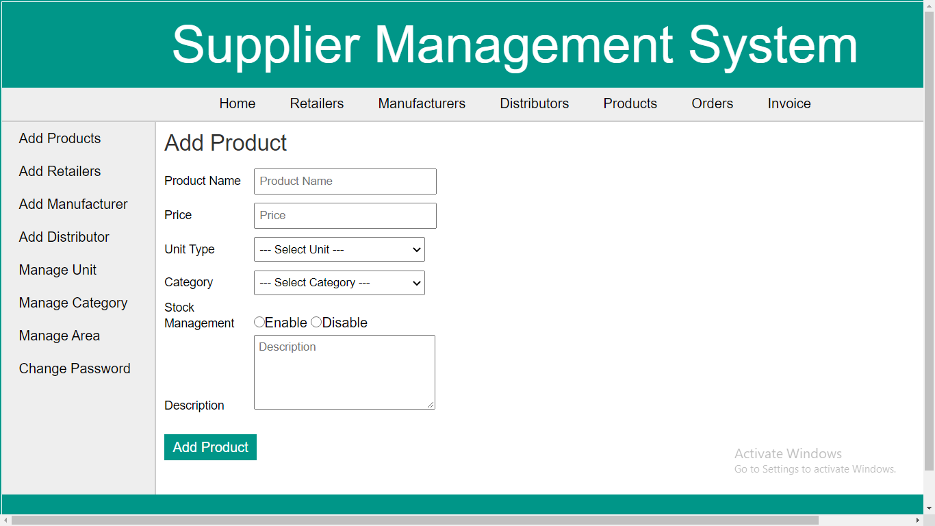 supplier management system free download