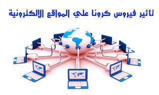 تأثير فيروس كرونا علي المواقع الالكترونية | corona virus