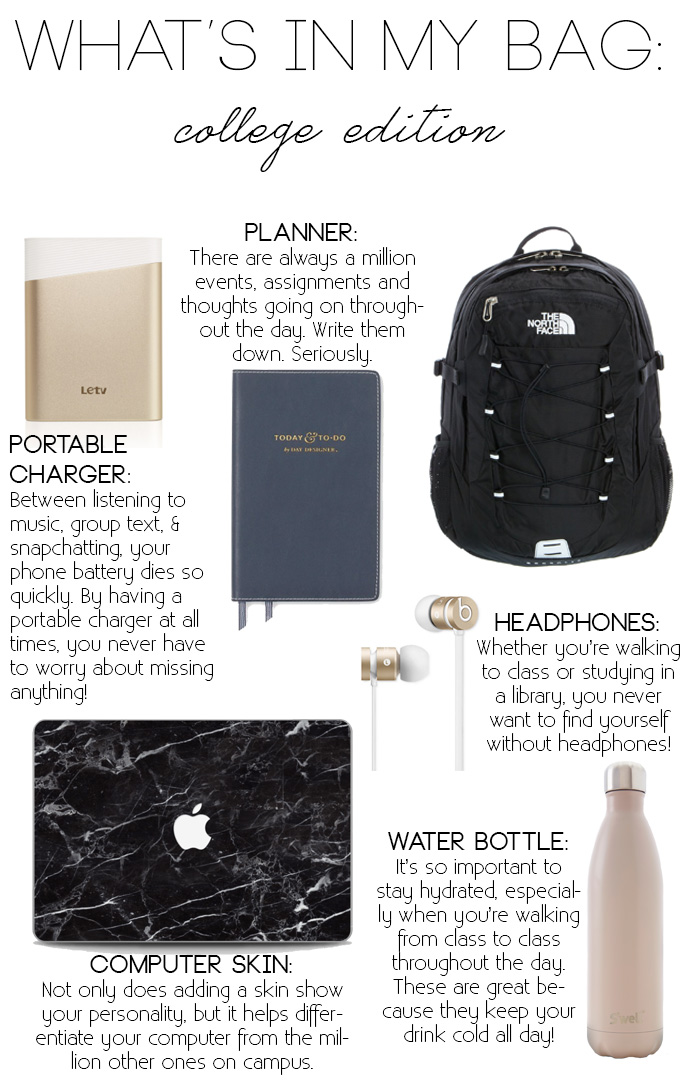 what's in my college backpack the university of texas austin