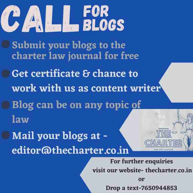 [Call for Blog] at The Charter [Submit by 30 September 2020]