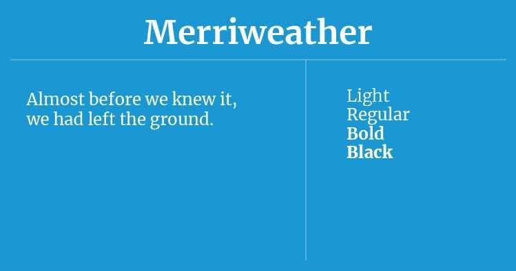 Font Terbaik Untuk Website Salah Satunya Adalah Merriweather