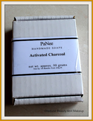 PaNee Handmade Soaps And Body Works ACTIVATED CHARCOAL Soap packaging