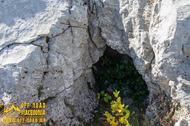 Remains of WW1 bunkers on Sokol Peak, Nidze Mountain