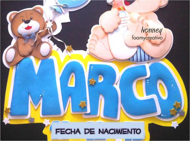 cartel bebe niño - foamycreativo - letras