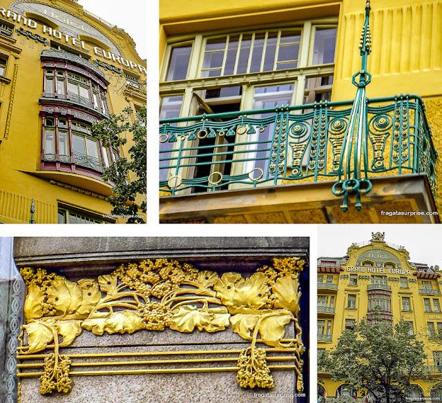 Art Nouveau em Praga: Grand Hotel Europa, na Praça Venceslau