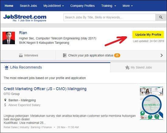 Cara Upload CV di Jobstreet