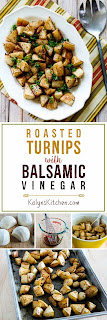 Roasted Turnips with Balsamic Vinegar and Thyme [found on KalynsKitchen.com]
