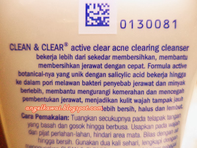 Angelkawai's Diary: Review Clean & Clear Active Clear ...