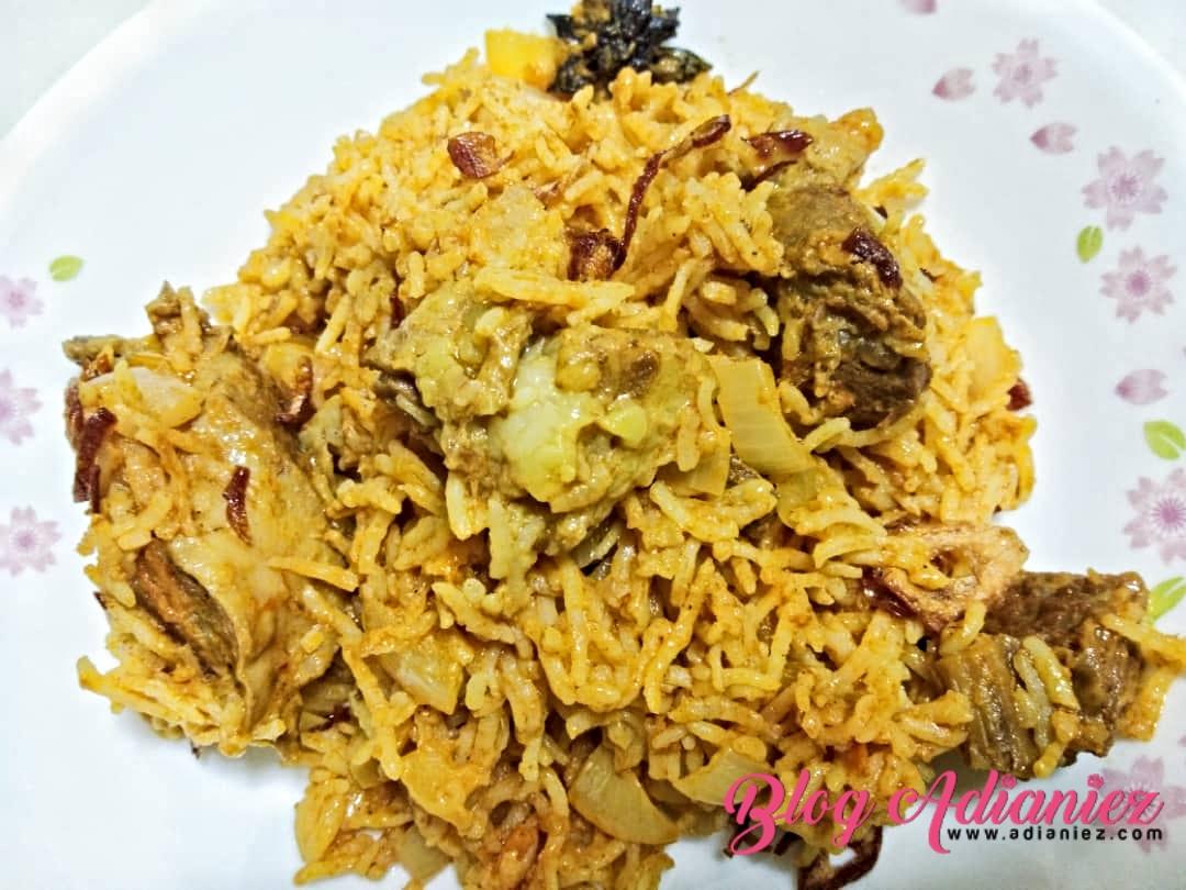 Nasi Kari Kambing Adabi | Memang sedap dan sesuai dijadikan hidangan istimewa seisi keluarga
