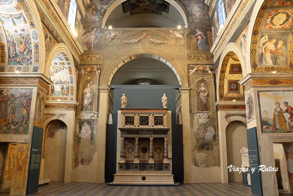 El coro de las Monjas, museo de Santa Giulia, Brescia