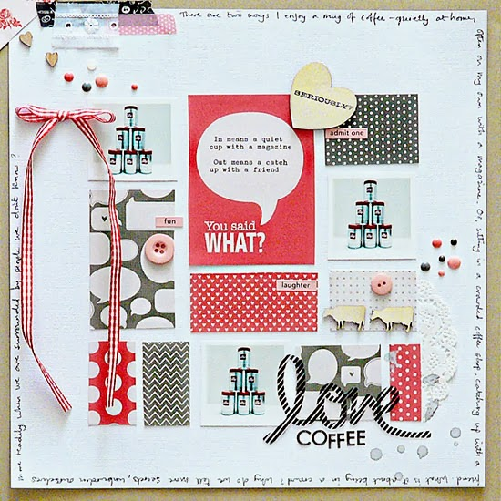 From High in the Sky scrapbooking coffee for Get It Scrapped
