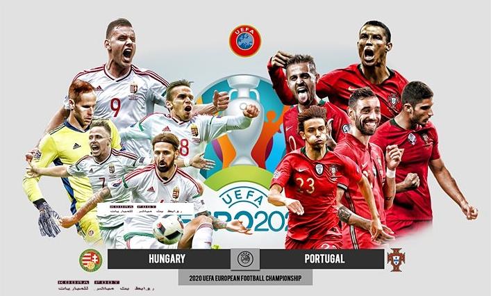 مباراة البرتغال والمجر في بطولة أمم أوروبا