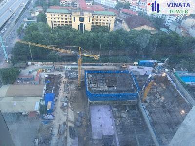 Tiến độ dự án Vinata Tower ngày 2/8/2016