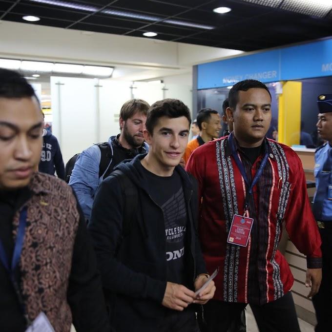 Marc Marquez Telah Tiba di Indonesia dengan Selamat Sentosa