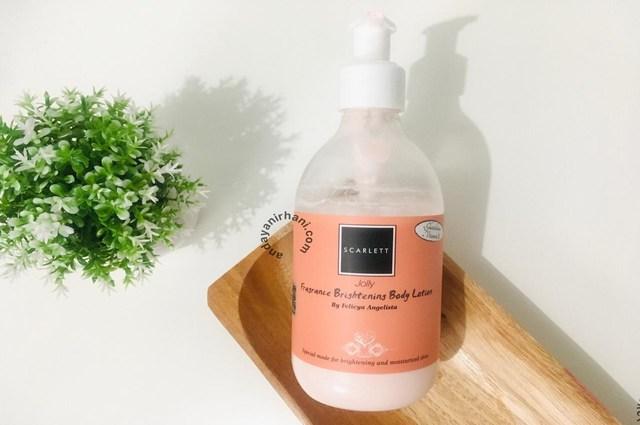 review scarlett whitening body lotion jolly
