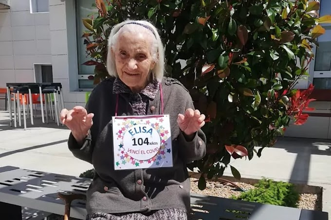 """Vence al coronavirus con casi 105 años: """"Ni se ha enterado de lo que tenía, sólo un poco de moquillo y fiebre"""""""