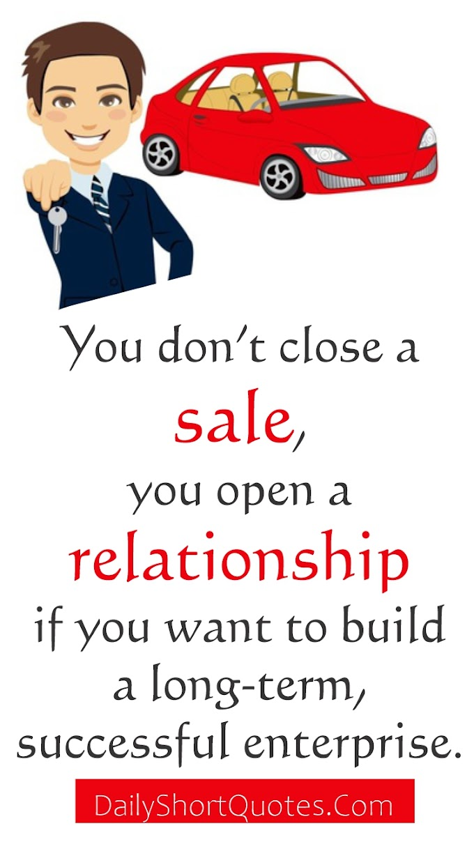 Car Sales and Relationship Quotes