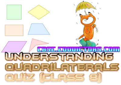 CBSE Class 8 - Chapter 3: Understanding Quadrilaterals (MCQs) (#cbsenotes)(#eduvictors)