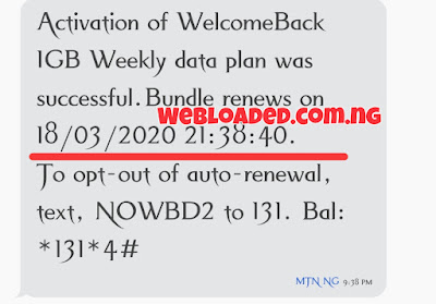 How To Be Eligible For 1GB N200 MTN Welcome Back Offer