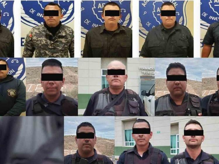 Elementos del Ejercito detienen a toda una comandancia de la Policía Municipal de Ciudad Madera por proteger a narcos en Chihuahua