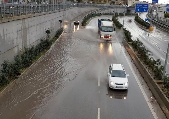 Heavy rainfall causes floods in Tirana