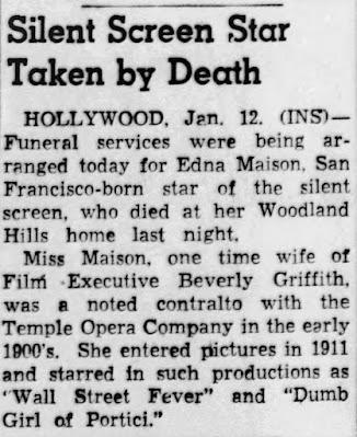 Edna Maison Death