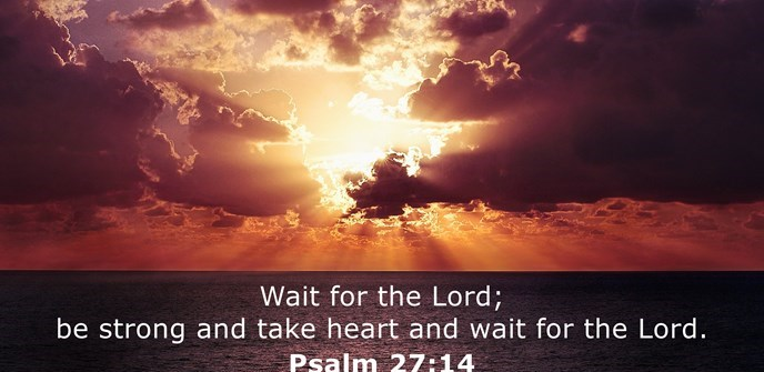 Wait for the Lord; be strong and take heart and wait for the Lord.