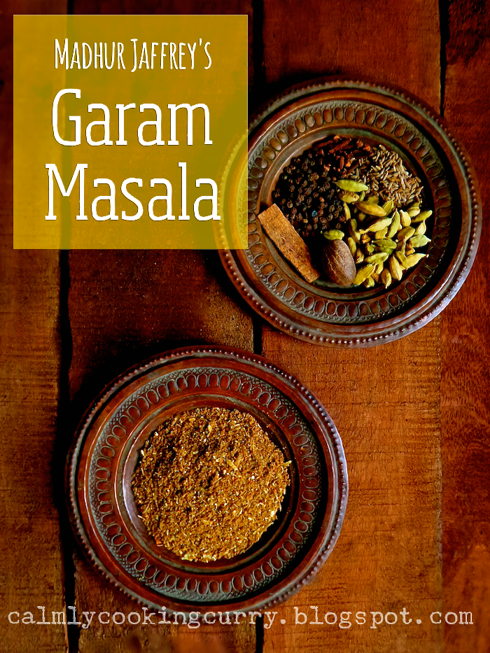 madhur jaffrey, recipe, garam masala, easy, indian, coffee grinder, spice mix, cardamom, cloves, cumin, nutmeg, pepper, cinnamon,
