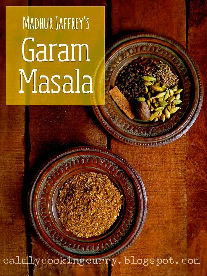 madhur jaffrey, recipe, garam masala, easy, indian, coffee grinder, spice mix, cardamom, cloves, cumin, nutmeg, pepper, cinnamon,