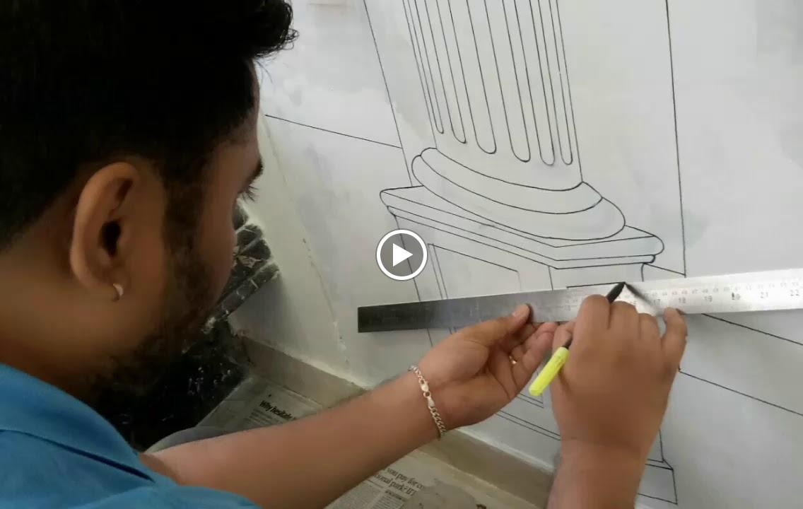 Drawing Room Wall Mural | Wall Painting | 3D Wall Mural