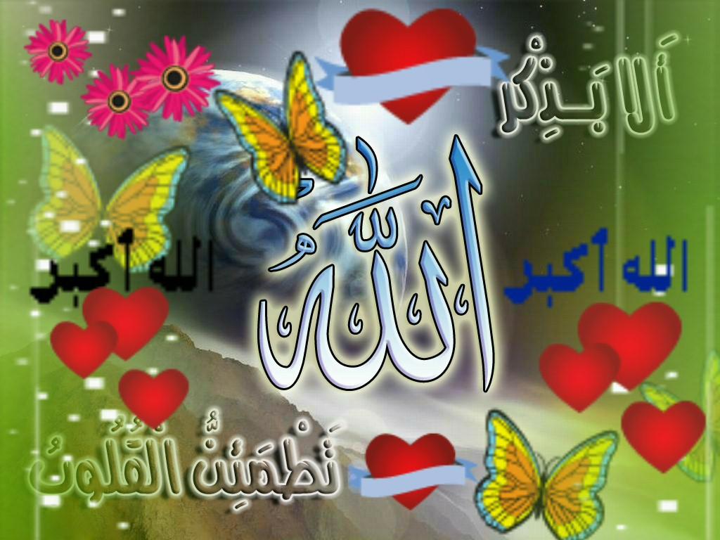 Colorful ALLAH Name Wallpapers