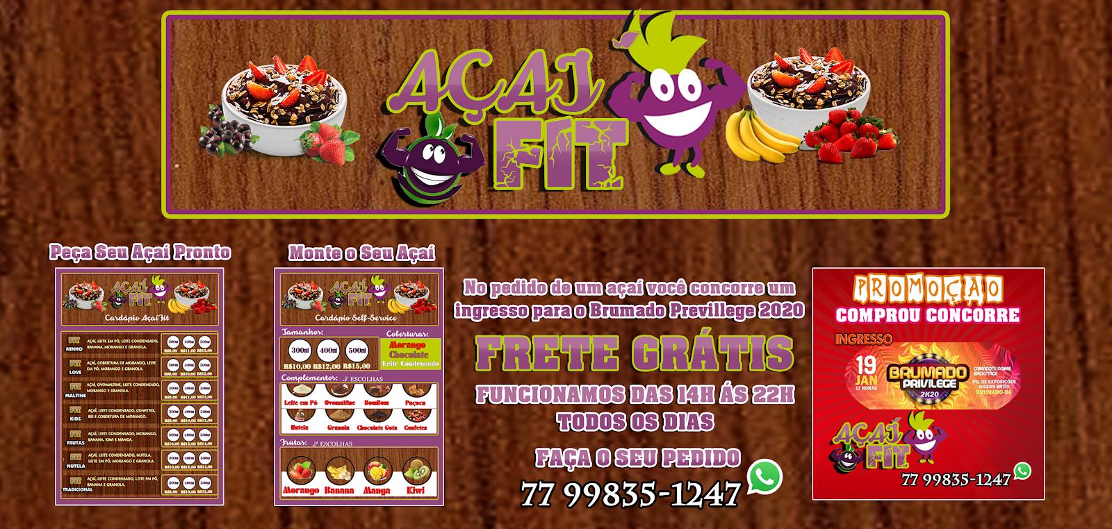 Inauguração do Açaí Fit acontece hoje (13) em Brumado.