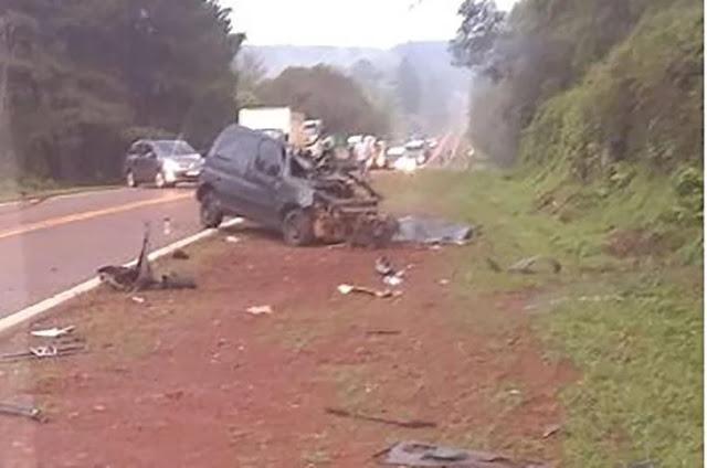 Siniestro vial sobre ruta 12 : Camión impactó de forma frontar contra un vehículo.